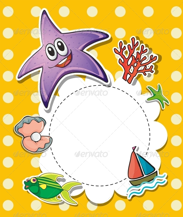 GraphicRiver Stationary with Sea Creatures 8183350