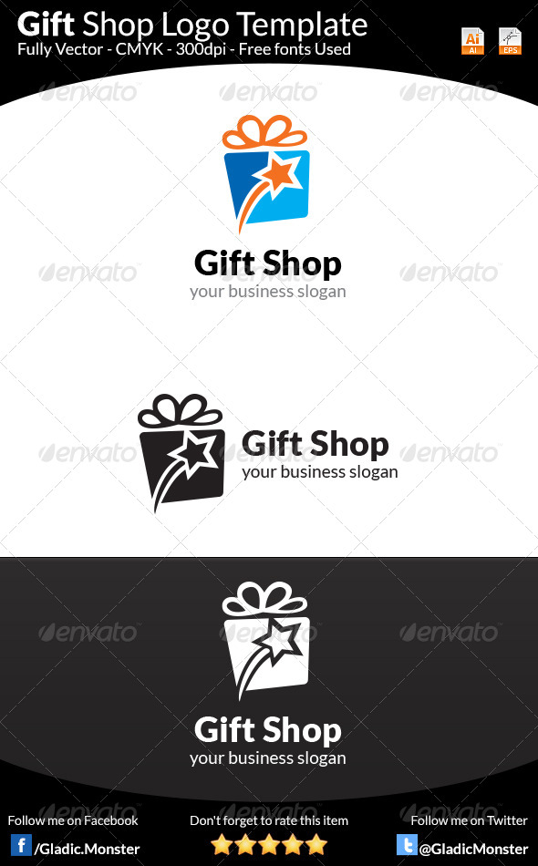 GraphicRiver Gift Shop Logo Template 8183354