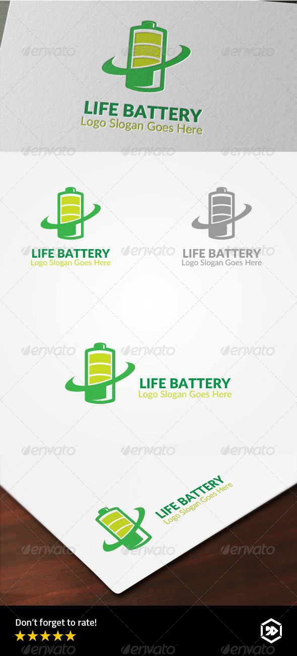 GraphicRiver Life Battery Logo 8183442