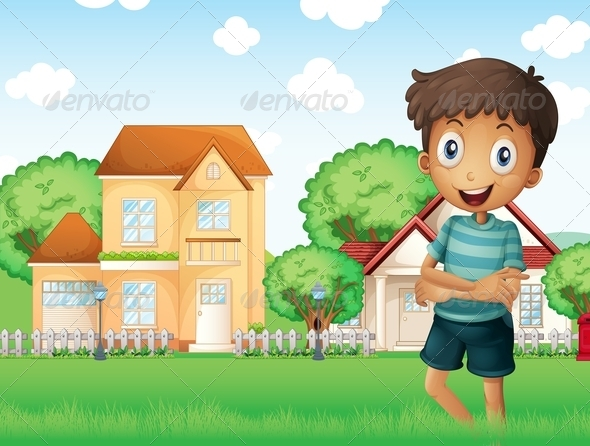 GraphicRiver Boy in Neighborhood 8183556