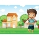 Boy in Neighborhood  - GraphicRiver Item for Sale