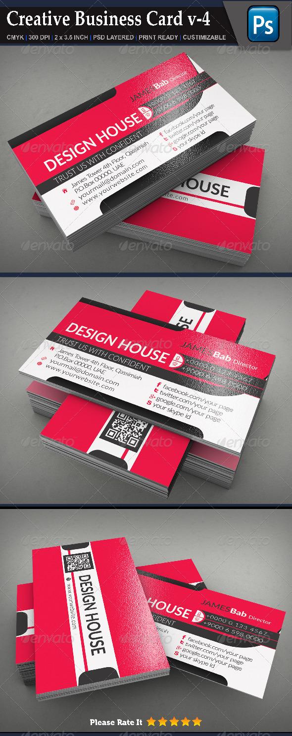 GraphicRiver Creative Business Card v-4 8183780