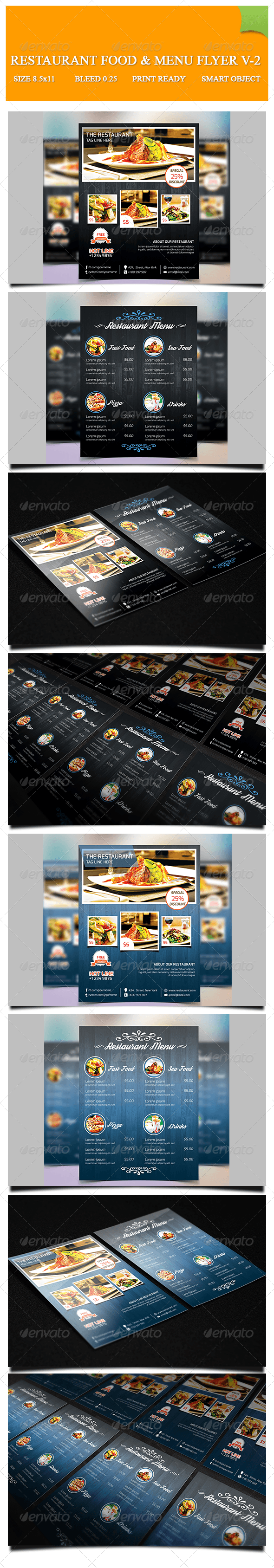 GraphicRiver Restaurant Food & Menu Flyer V-2 8183960