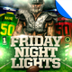 Friday Night Lights Football Flyer Template - GraphicRiver Item for Sale