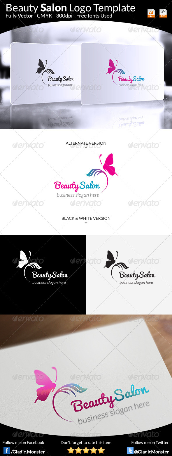 GraphicRiver Beauty Salon Logo 8184353