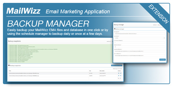 CodeCanyon Backup Manager for MailWizz EMA 8184361