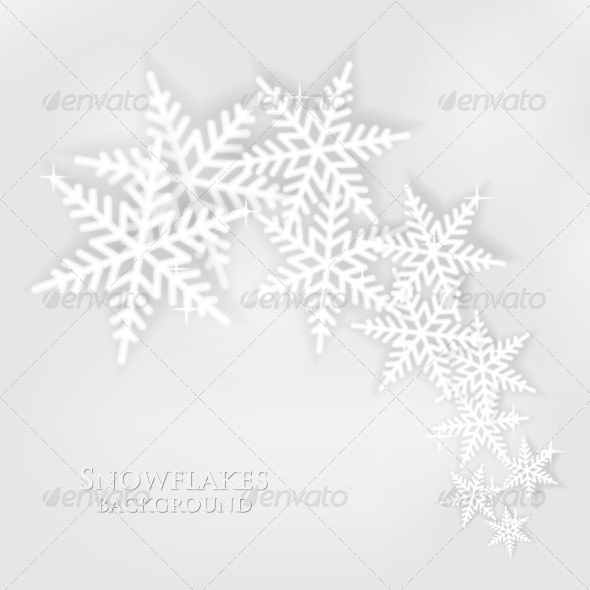 GraphicRiver Snowflakes Background 8184445