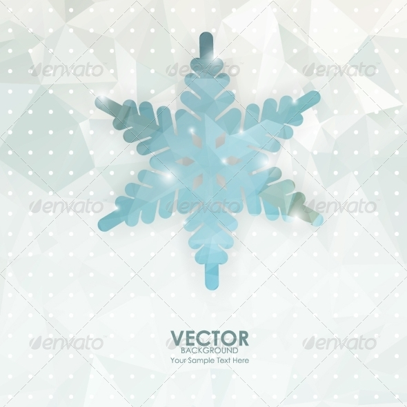 GraphicRiver Snowflake on Geometric Background 8184484