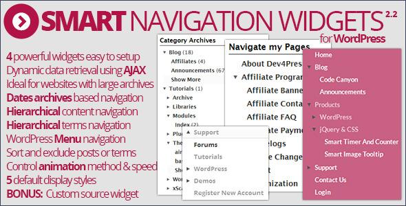 Smart Navigation Widgets - CodeCanyon Item for Sale