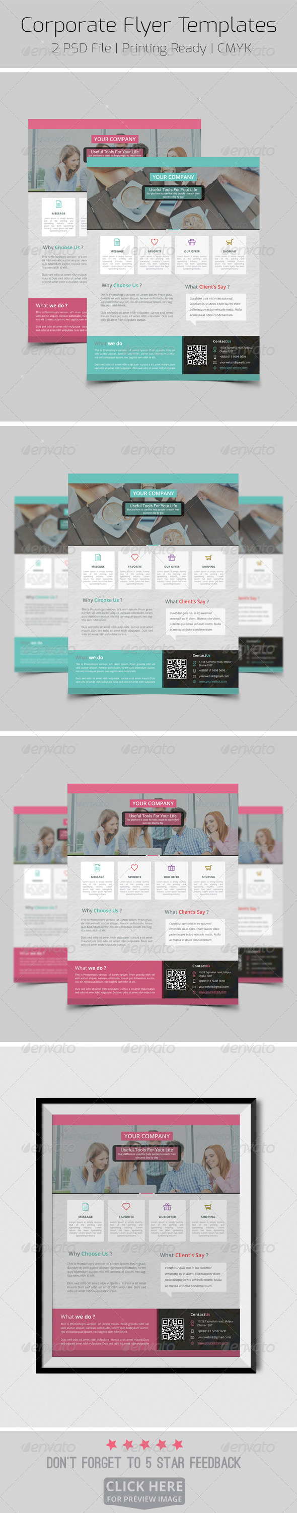 GraphicRiver Corporate Flyer Templates 8184622