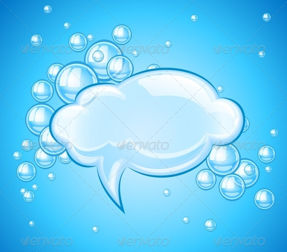 GraphicRiver Bubbles Cloud in Water For Message 8184731