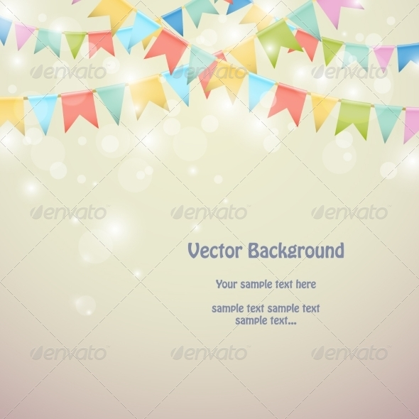 GraphicRiver Holiday Background with Colored Bunting 8184737