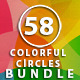COLORFUL CIRCLES BACKGROUNDS  BUNDLE - GraphicRiver Item for Sale