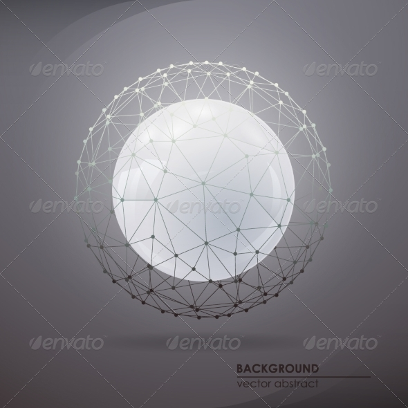 GraphicRiver Round Molecular Lattice 8184949
