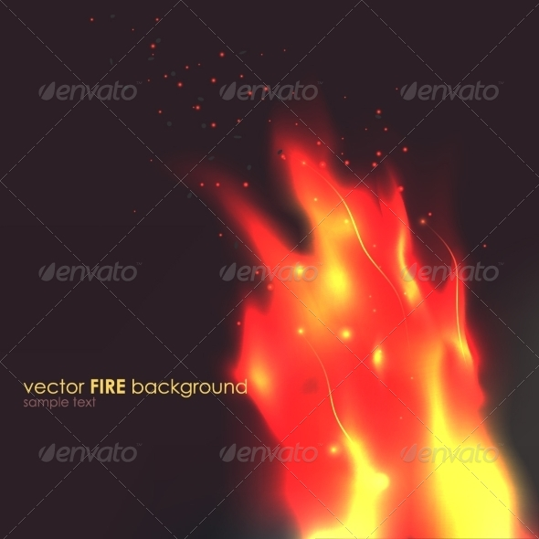 GraphicRiver Flames on Black Background 8184964
