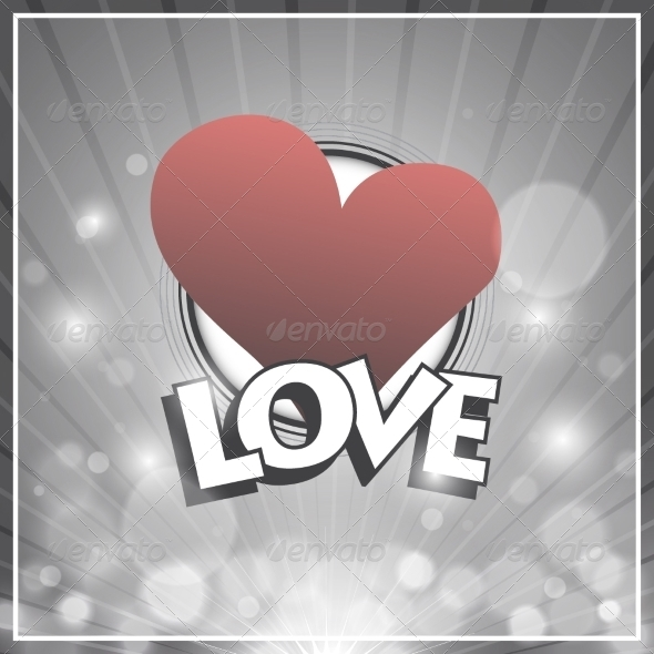 GraphicRiver Retro Design Love Background 8184965