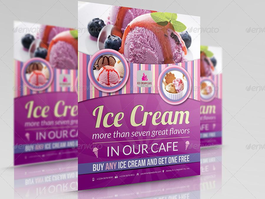 Ice Cream Template Ice Cream Flyer Vol 2