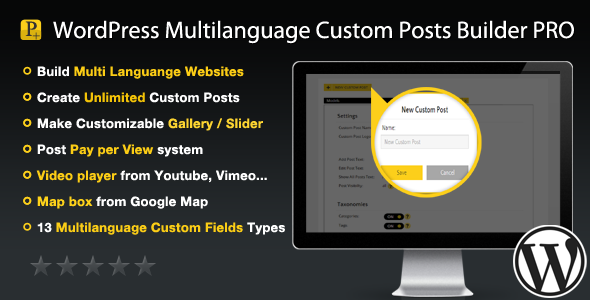 WordPress Multilanguage Custom Posts Builder PRO