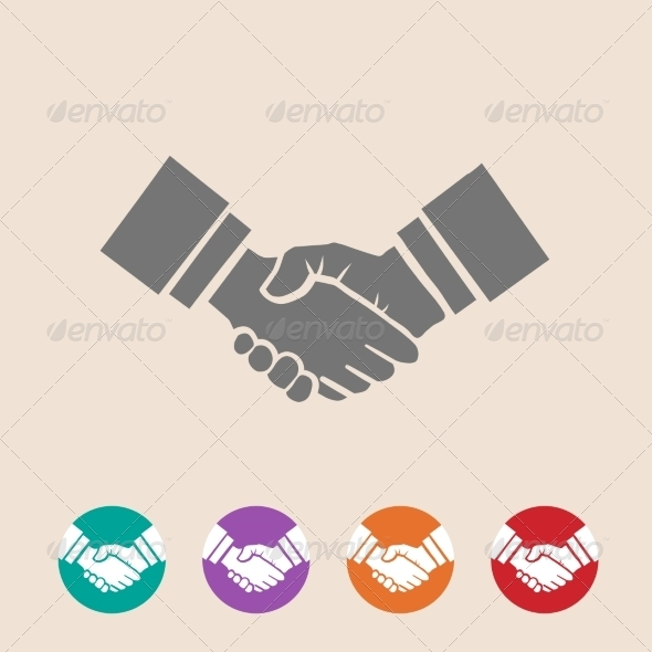 GraphicRiver Handshake Illustration 8185429