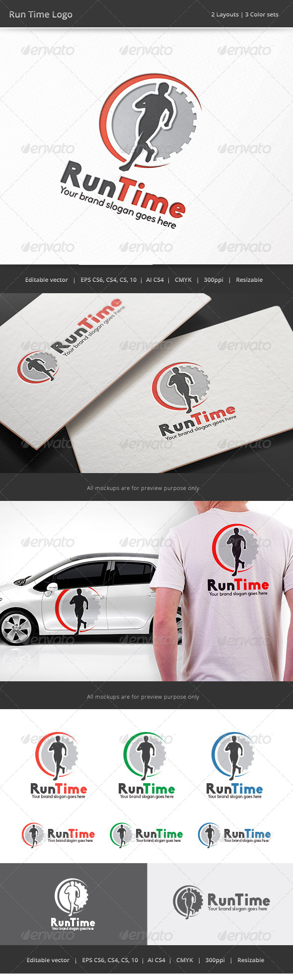 GraphicRiver Run Time Fitness Logo 8185951