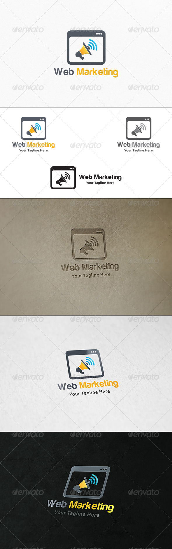 Web Marketing Logo Template
