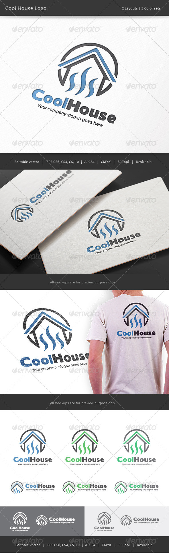 GraphicRiver Cool House Logo 8186005