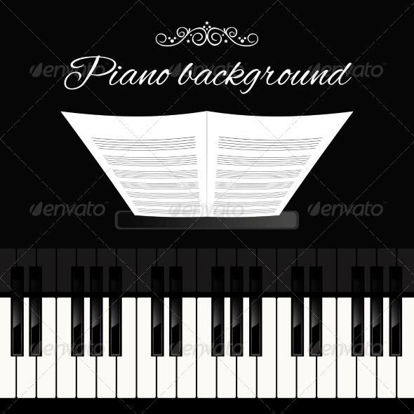 GraphicRiver Piano keyboard background 8186102