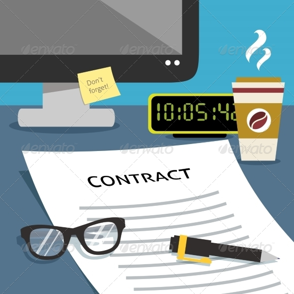 GraphicRiver Contract on Desk 8186105