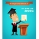 Graduate Man Near Tribune - GraphicRiver Item for Sale