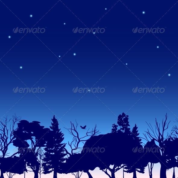GraphicRiver Fotest Trees Sketch 8186149