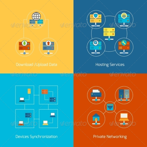 GraphicRiver Hosting Flat Icons 8186160