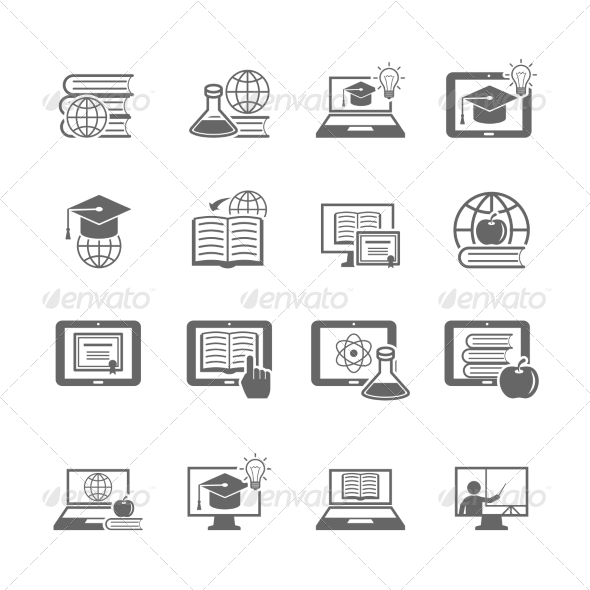 GraphicRiver Online Education Icon 8186162