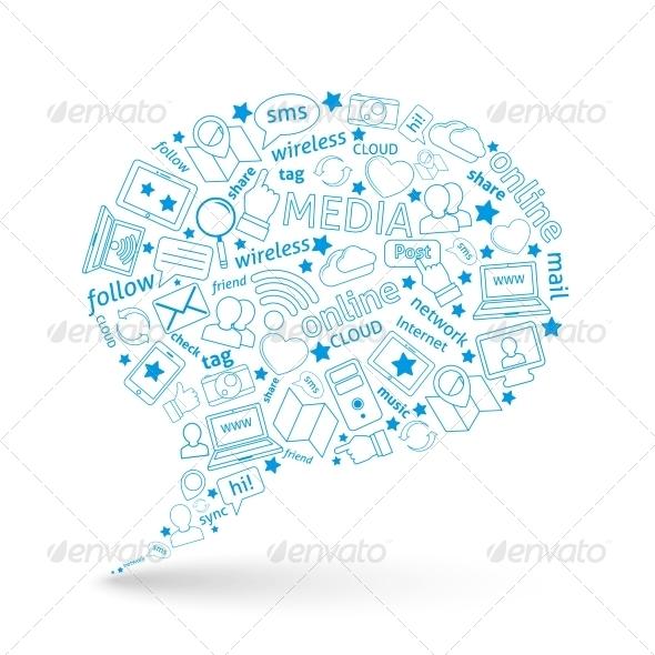 GraphicRiver Social Media Bubble Icon 8186166