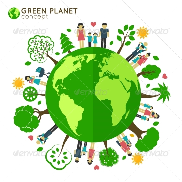 GraphicRiver Family Globe Ecology 8186169