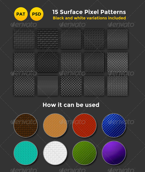 GraphicRiver Surface Pixel Patterns 8186182