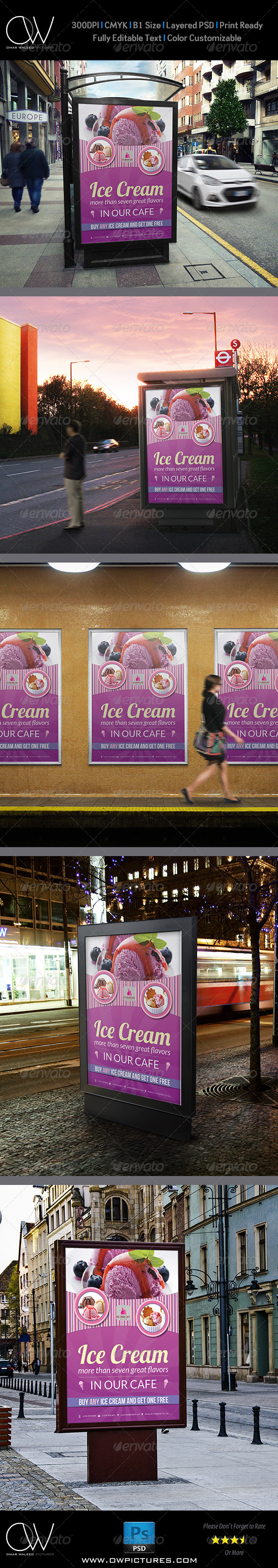 GraphicRiver Ice Cream Poster Template Vol.2 8181896