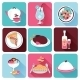 Restaurant Food Icons Flat - GraphicRiver Item for Sale
