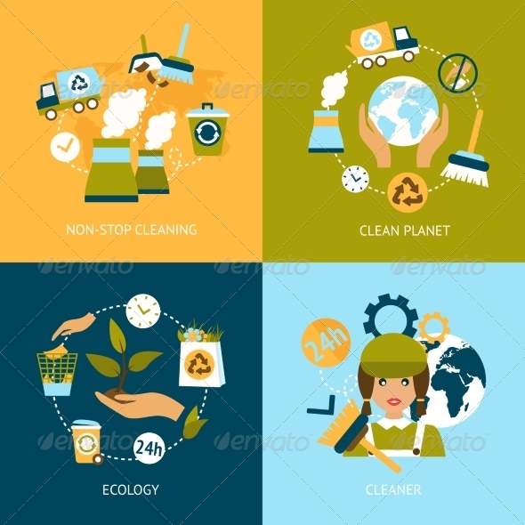 GraphicRiver Ecology Flat Icons 8186233