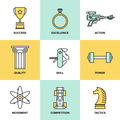 Business development skills flat icons set - PhotoDune Item for Sale