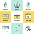 Healthcare and medicine flat icons set - PhotoDune Item for Sale