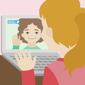 Video chat of two girlfriends flat illustration - PhotoDune Item for Sale