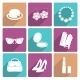 Woman Accessories Flat Icons Set - GraphicRiver Item for Sale