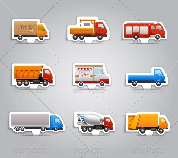 GraphicRiver Truck Paper Stickers 8186244