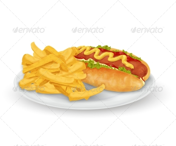 GraphicRiver Hot Dog French Fries 8186288