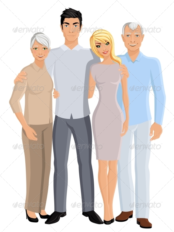 GraphicRiver Grandparents Son and Daughter 8186302