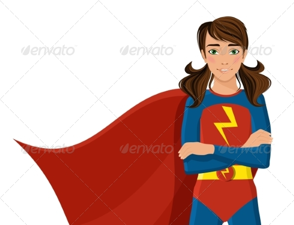 GraphicRiver Girl in Superhero Costume 8186310