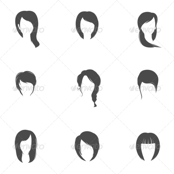 GraphicRiver Girl Hair Style Set 8186312