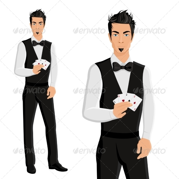 GraphicRiver Casino Dealer Portrait 8186400