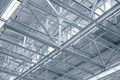 Structure of metal industrial roof - PhotoDune Item for Sale