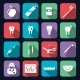 Dental Icons Flat - GraphicRiver Item for Sale